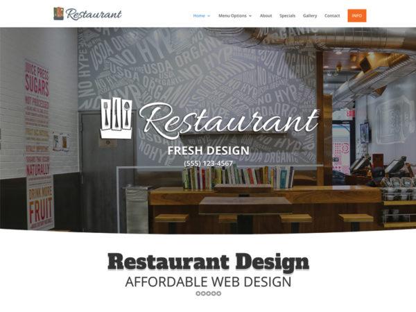 Affordable Restaurant Web Design